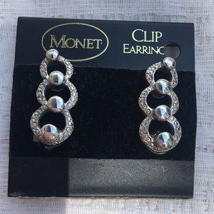 Vintage Monet Clip Earrings